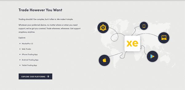 InvestXE Review- Trading Platforms
